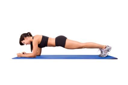 plank ejercicio en casa